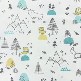 Tissu jersey Ourson d'Alaska - menthe x 10cm