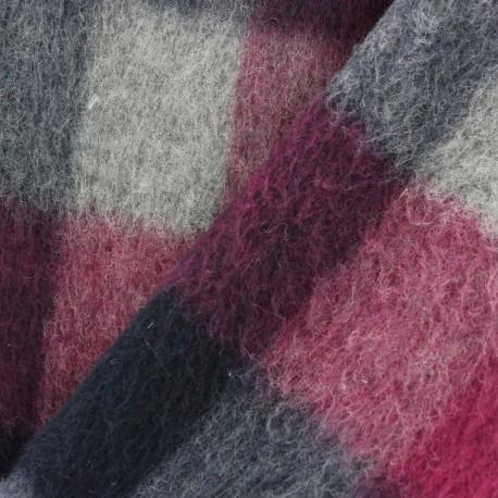 Astrakhan Fur fabric - navy x 10cm