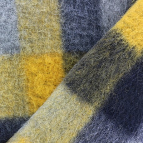 Square Wool Fabric - mustard x 10cm