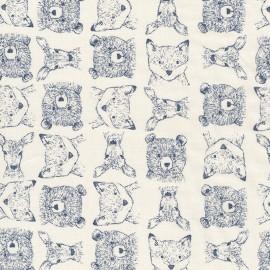 Tissu Dear Stella Woodland Critters - blanc x 12cm