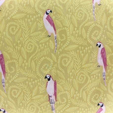 Tissu Dear Stella Birds in Paradise - doré x 21cm