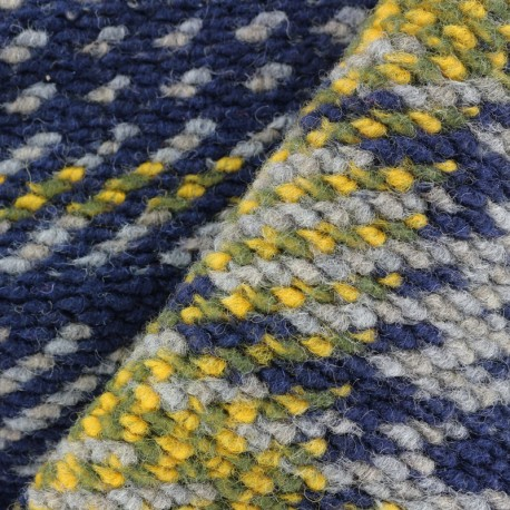 Tissu jersey maille tricot Warm - carreaux