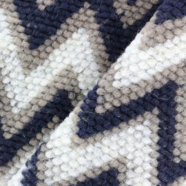Warm Woolen jersey fabric - chevron x 10cm