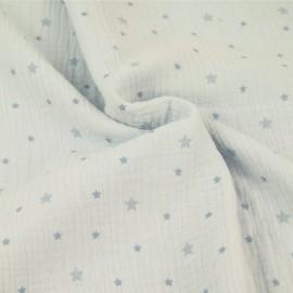 Tissu double gaze de coton Voie lactée - ciel x 10cm