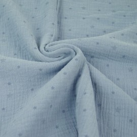 Voie lactée Double gauze fabric - blue x 10cm