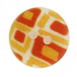 Bouton mosaïque jaune
