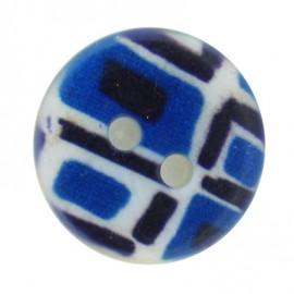Bouton mosaïque bleu