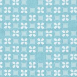 Tissu coton double gaze Robert Kaufman Little prints - bleu x 10cm