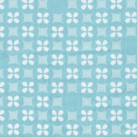 Tissu coton double gaze Robert Kaufman Little prints - bleu x 10cm