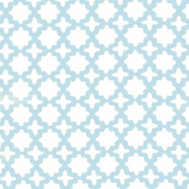 Tissu coton double gaze Robert Kaufman Little prints - bleu/blanc x 10cm