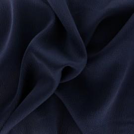 Tissu satin gaufré - bleu noir x 10cm