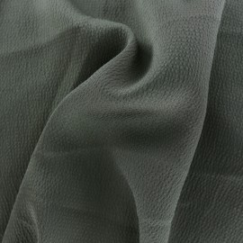 Tissu satin gaufré - kaki x 10cm