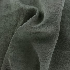 Plain embossed satin fabric - verdigris x 10cm