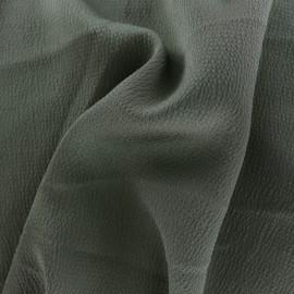 Plain embossed satin fabric - verdigris x 10cm
