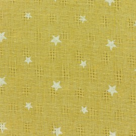 Simple gauze star fabric - yellow x 10cm