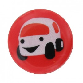 Bouton voiture rouge