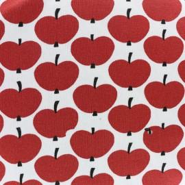 Tissu Oeko-Tex Jersey Pomme - rouge x 10cm