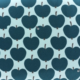 Tissu Oeko-Tex Jersey Pomme - verte x 10cm