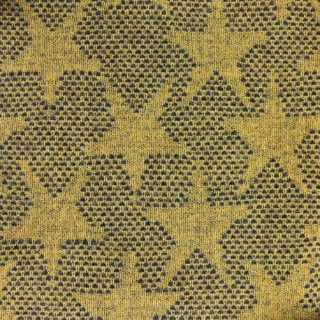 Light Stars Wool Fabric - mustard x 10cm