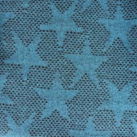 Tissu lainage léger Etoiles - bleu x 10cm