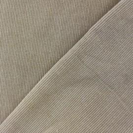 Tissu velours milleraies beige clair 300gr/ml x 10cm