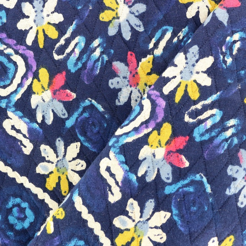 Quilted Fabric Blue