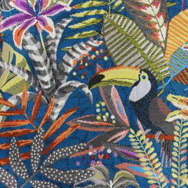Tissu toile jacquard Sumatra - multicolore x 55cm