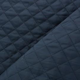 Tissu matelassé double face losanges - bleu marine x 10cm