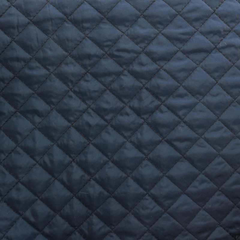 Reversible Quilted Fabric Double Sided Diamond Navy Blue
