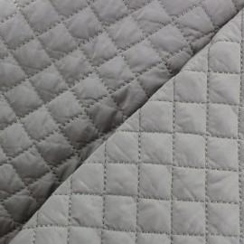 Tissu matelassé double face losanges - gris x 10cm