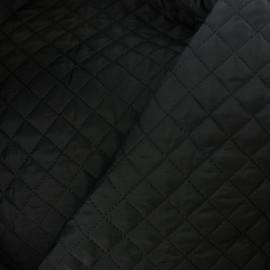 Tissu matelassé double face losanges - noir x 10cm