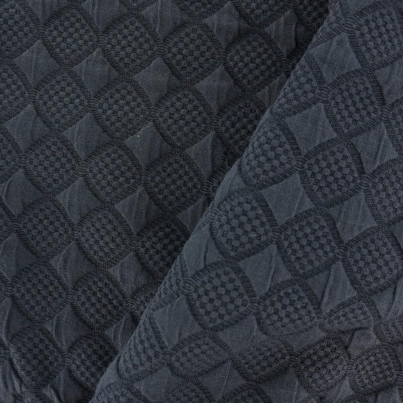 tissu d 39 habillement jersey jacquard damass losanges. Black Bedroom Furniture Sets. Home Design Ideas