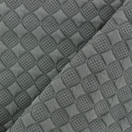 Jersey jacquard fabric diamond - green x 10cm