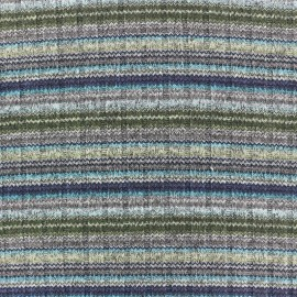 Better in colors stitched marcel jersey fabric - blue/grey/green x 10cm