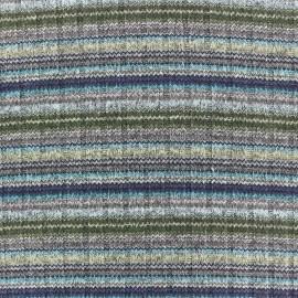 Tissu jersey maille marcel Better in colors - bleu/gris/vert x 10cm