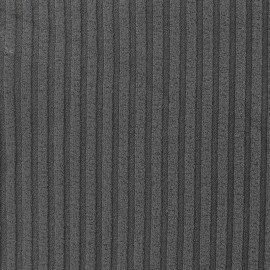 Jersey plain striped knitted fabric - grey x 10cm
