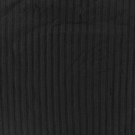 Jersey plain striped knitted fabric - black x 10cm