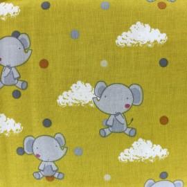 Petit Rêve Cotton fabric - elephant x 10cm