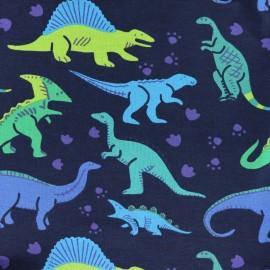 Tissu Jersey Dino - noir x 10cm