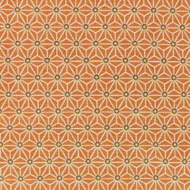 Tissu coton crétonne Saki - orange x 10cm