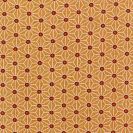 Tissu coton crétonne Saki - mandarine x 10cm
