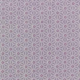 Tissu coton crétonne Saki - lavande x 10cm