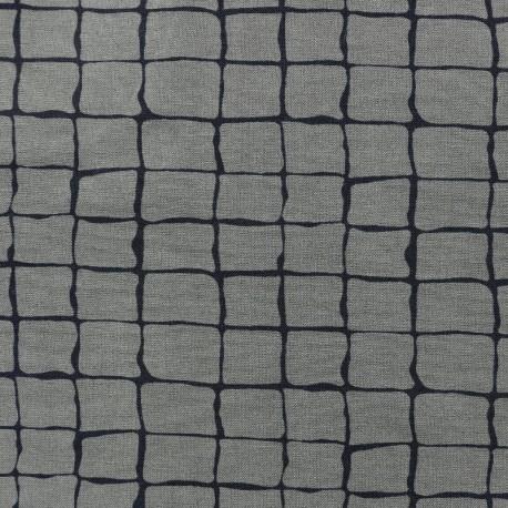 Light Lycra Gabardine Jeans Squares Fabric - green x 10cm