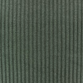 Jersey plain striped knitted fabric - green x 10cm