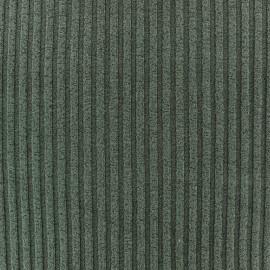 Tissu jersey maille Rayures uni  - vert x 10cm