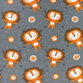 Tissu jersey Cute lions - gris x 10cm