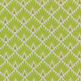 Tissu coton cretonne Ecailles dorées - citronnelle x 10cm