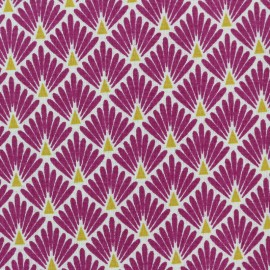 Cretonne cotton Fabric Ecailles dorées - purple x 10cm