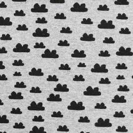 Tissu sweat léger Petits motifs - nuage x 10cm