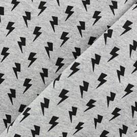 Tissu sweat léger Petits motifs - éclair x 10cm